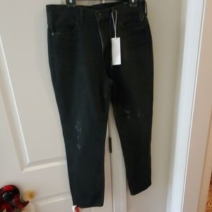 nwt womens black vince distressed jeans sz 31